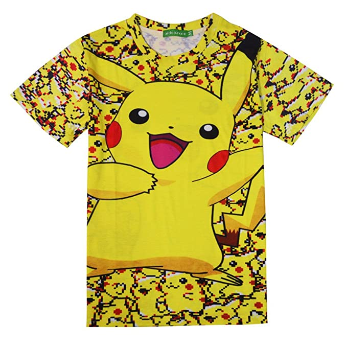 e955d085 Sunling Adult Short Sleeve Pokemon Pikachu T Shirts Cute Cartoon Print Tees  M-XXL: Amazon.ca: Clothing & Accessories