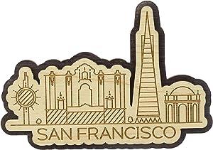 Printtoo Engraved Wooden California San Francisco City Souvenir Custom Fridge Magnet