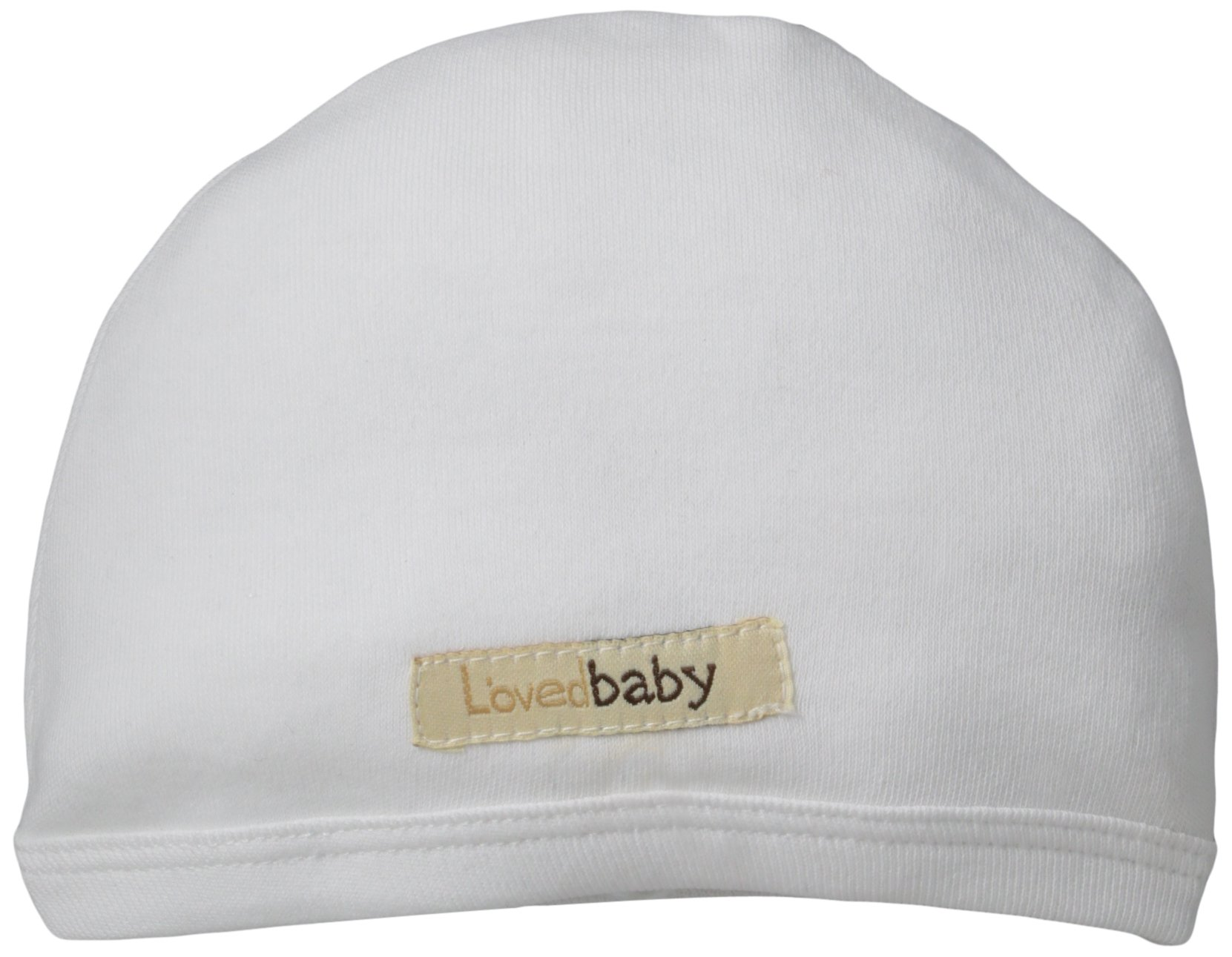 L'ovedbaby Unisex Baby Organic Cute Cap (Baby) - White - 0/3 Months
