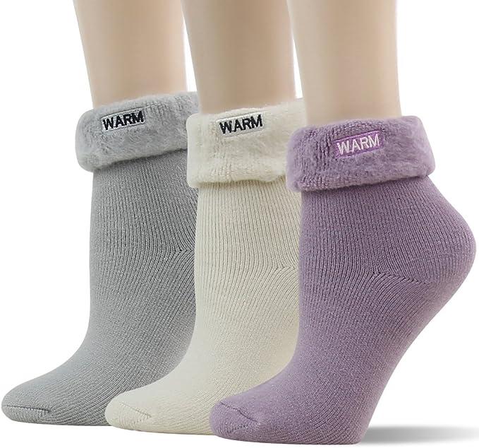 Ladies Thermal Winter Socks Black Size 4-8 41B170 Pack of 3