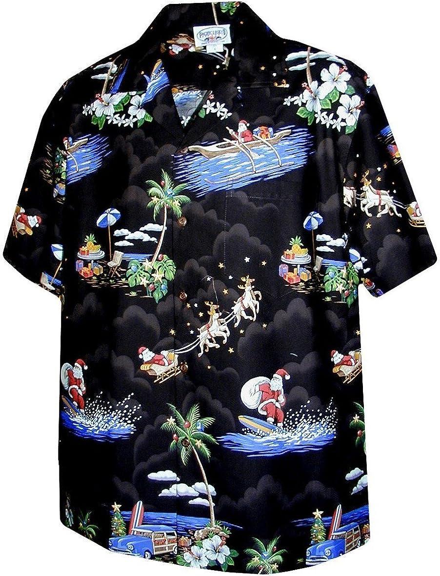Pacific Legend Christmas Santa Claus Hawaiian Shirt