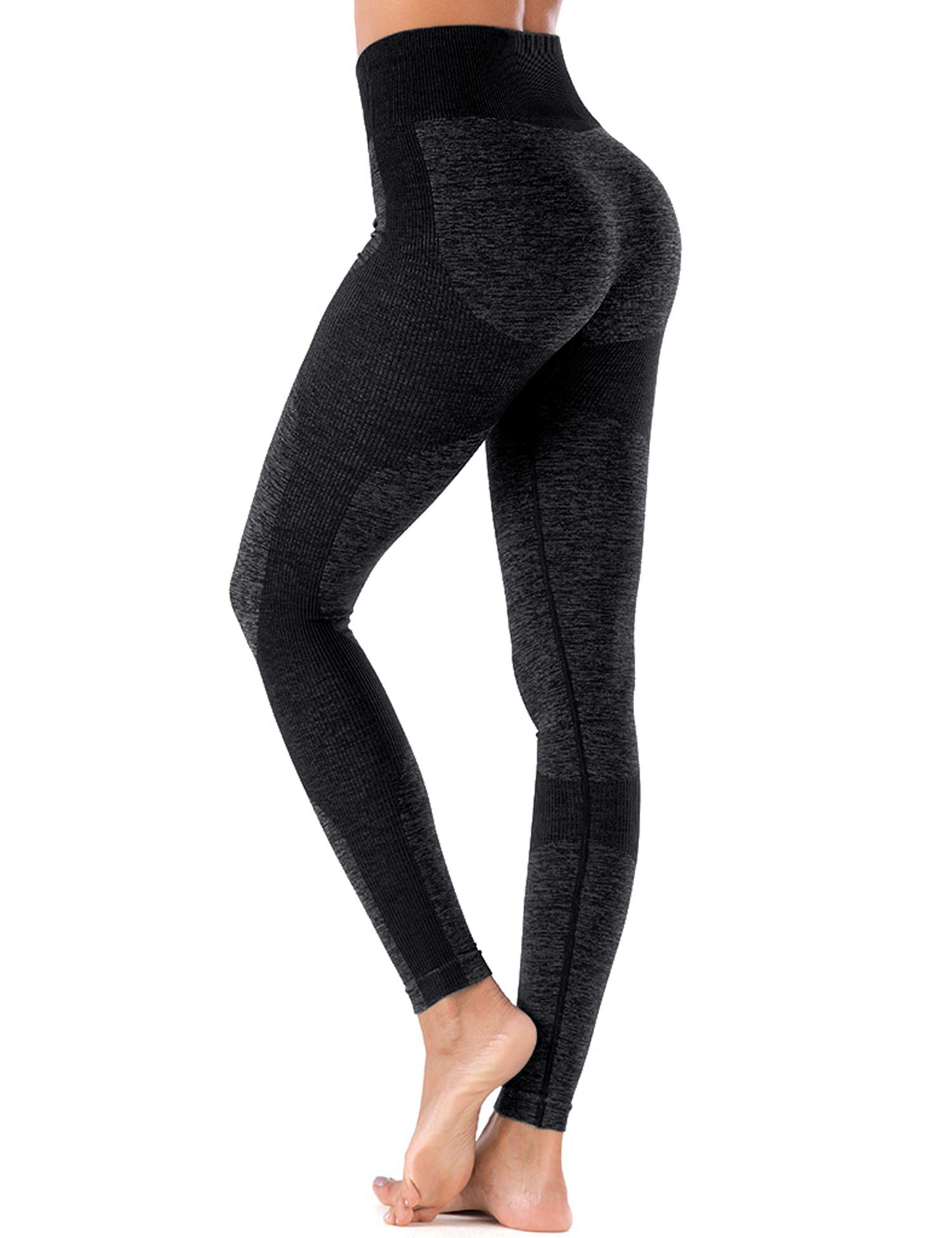 ZHENWEI Women's High Waist Workout Gym Vital Seamless Leggings Yoga Pants Black M by ZHENWEI