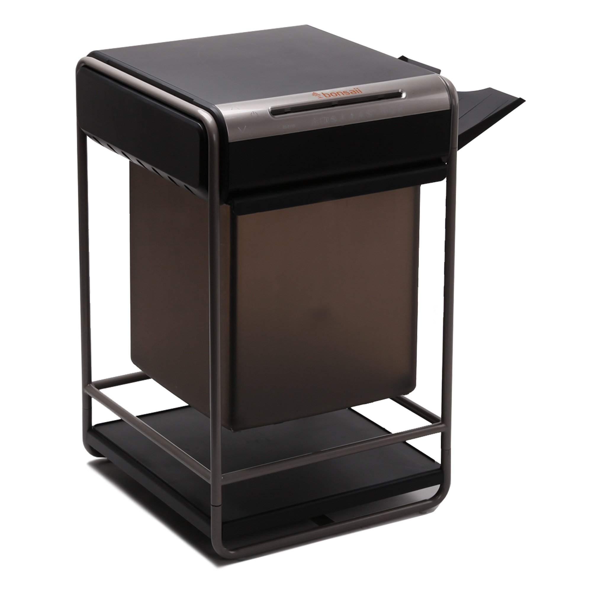 Bonsaii PrinterBro C146-B Desktop-Style Cross-Cut 10-Sheet Paper/Clip/Staple Shredder, 3-in-1 Combo Unit, 11.1 Gallon Draw-out Wastebasket Capacity, Super Space Saving by Bonsaii