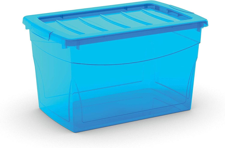 SIK Kis 8610000 0188 03 Omni Box-Caja de almacenaje plástico, 30 L, Color Azul
