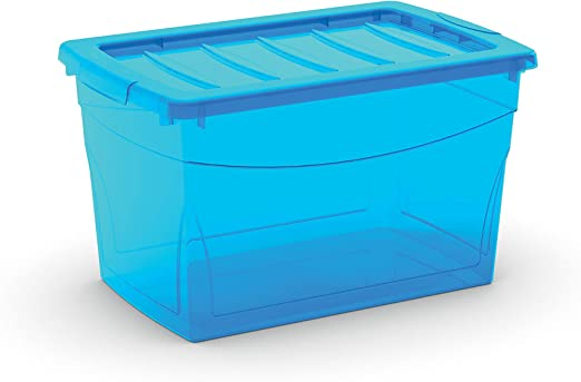 KIS 8610000 0188 03 Omni Box-Caja de almacenaje plástico, 30 L, Color Azul: Amazon.es: Hogar