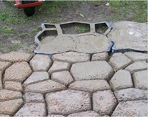 Bricolaje KeepworthSourcing plástico ruta molde manualmente moldes para Paving cemento chacinero la piedra herramientas auxiliares de carretera: Amazon.es: ...