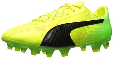 50432704b PUMA Men s Evospeed 17.2 LTH FG Soccer Shoe Safety Yellow Black-Green  Gecko