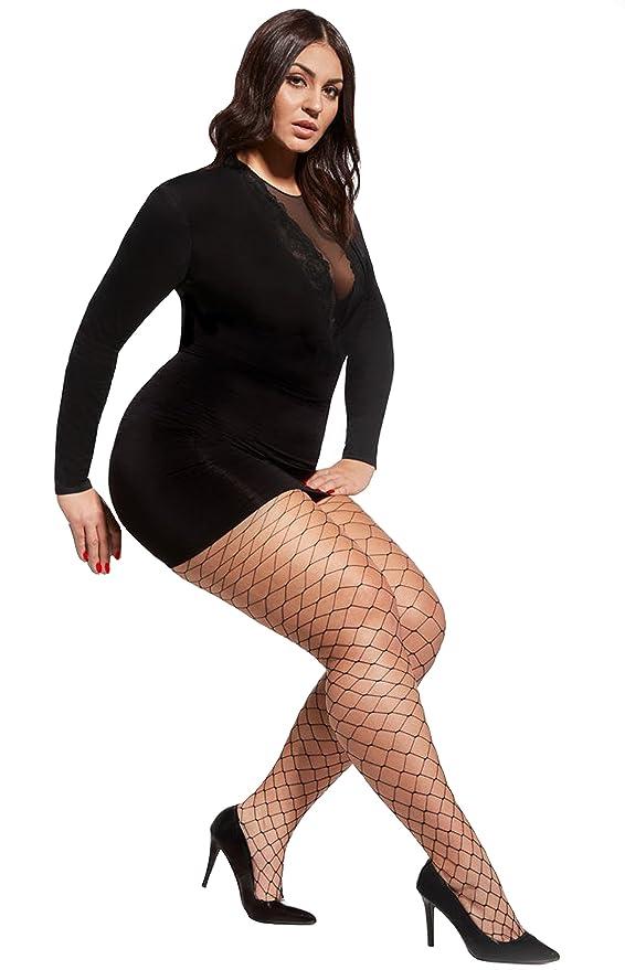 2db31c7f1 Excellent women plus size fishnet tights Octagon large scale by Aurellie   Amazon.co.uk  Clothing