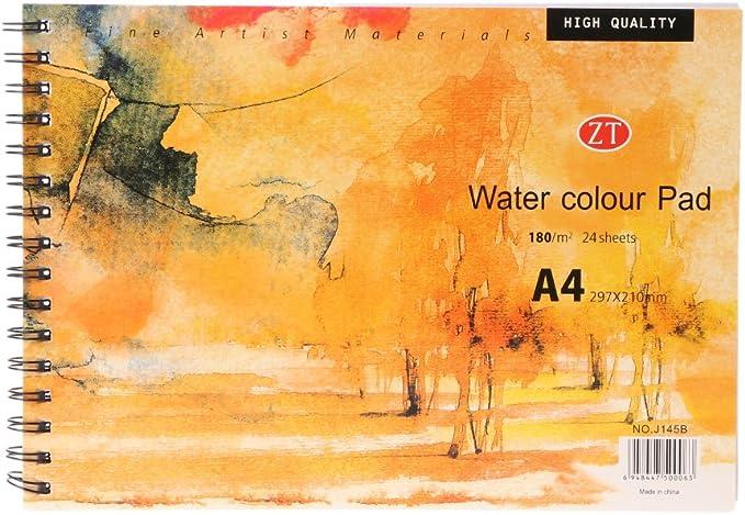 S-TROUBLE A4 Aquarelle Papier Art Artiste Sketchbook Croquis Pad Dessin Peinture 24 Feuille