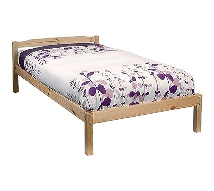 Cama individual pino 91,44 cm cama individual marco de madera Sussex ...