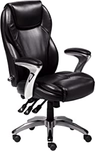Serta Bonded Leather Executive Chair, Multi-Paddle