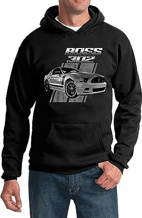 Ford Zip Up Hoodie Mustang Boss 302 Hooded Sweatshirt