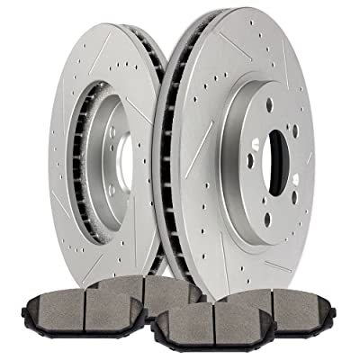 Brake Kits,SCITOO Front Discs Brake Rotors and Ceramic Pads fit for 2001-2002 Acura MDX, 1999-2004 Honda Odyssey: Automotive