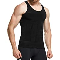 228d04ee33d2b GKVK Mens Slimming Body Shaper Vest Shirt Abs Abdomen Slim