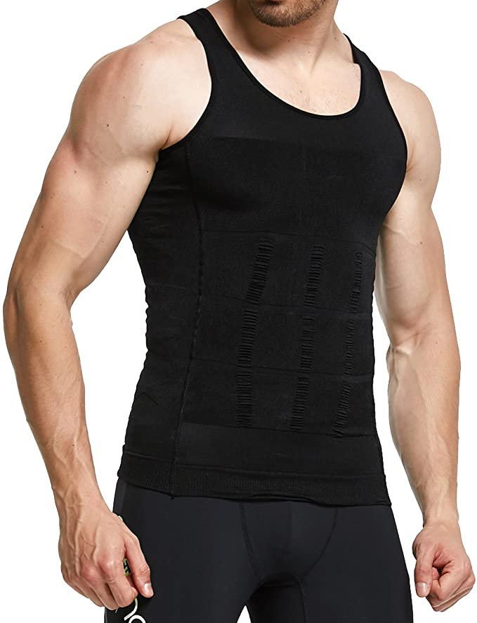 Details about  /Men Slimming Body Shaper Vest Abs Abdomen Compression T-Shirt Workout Tank Tops