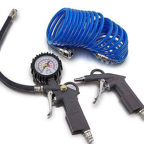 3 teiliges aire comprimido juego de accesorios para compresor de aire de presión de los neumáticos