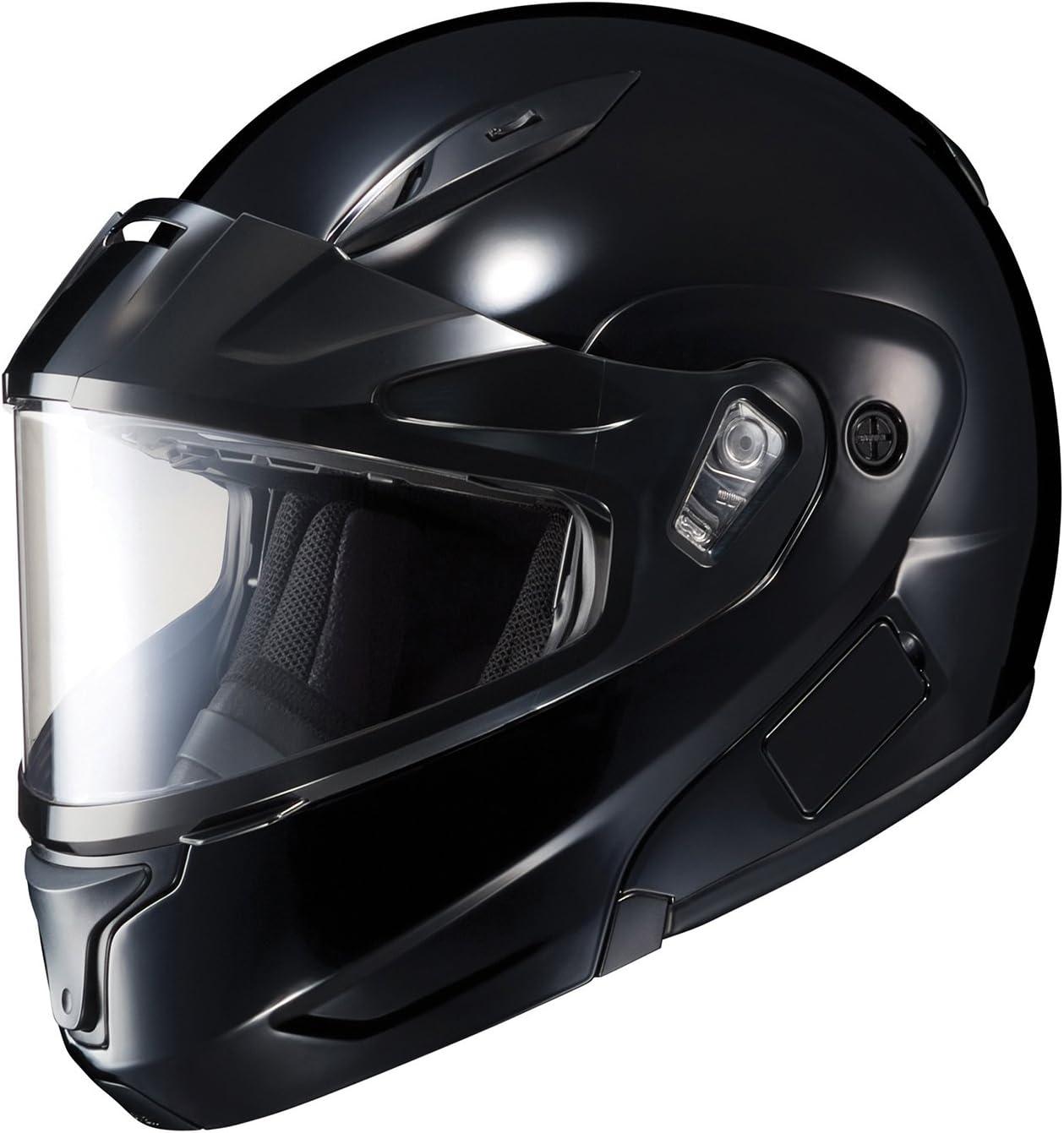 Black, Medium HJC CL-MAX2BTSN Solid Modular Bluetooth Snow Helmet Framed Dual Lens Shield