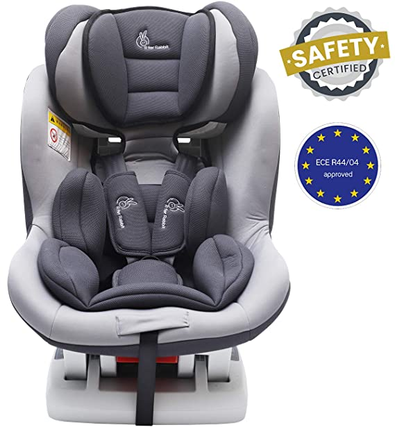 R for Rabbit Jack N Jill Sportz - The Sporty Look Convertible Baby/Kids Car Seat for 0-4 Years (Grey)