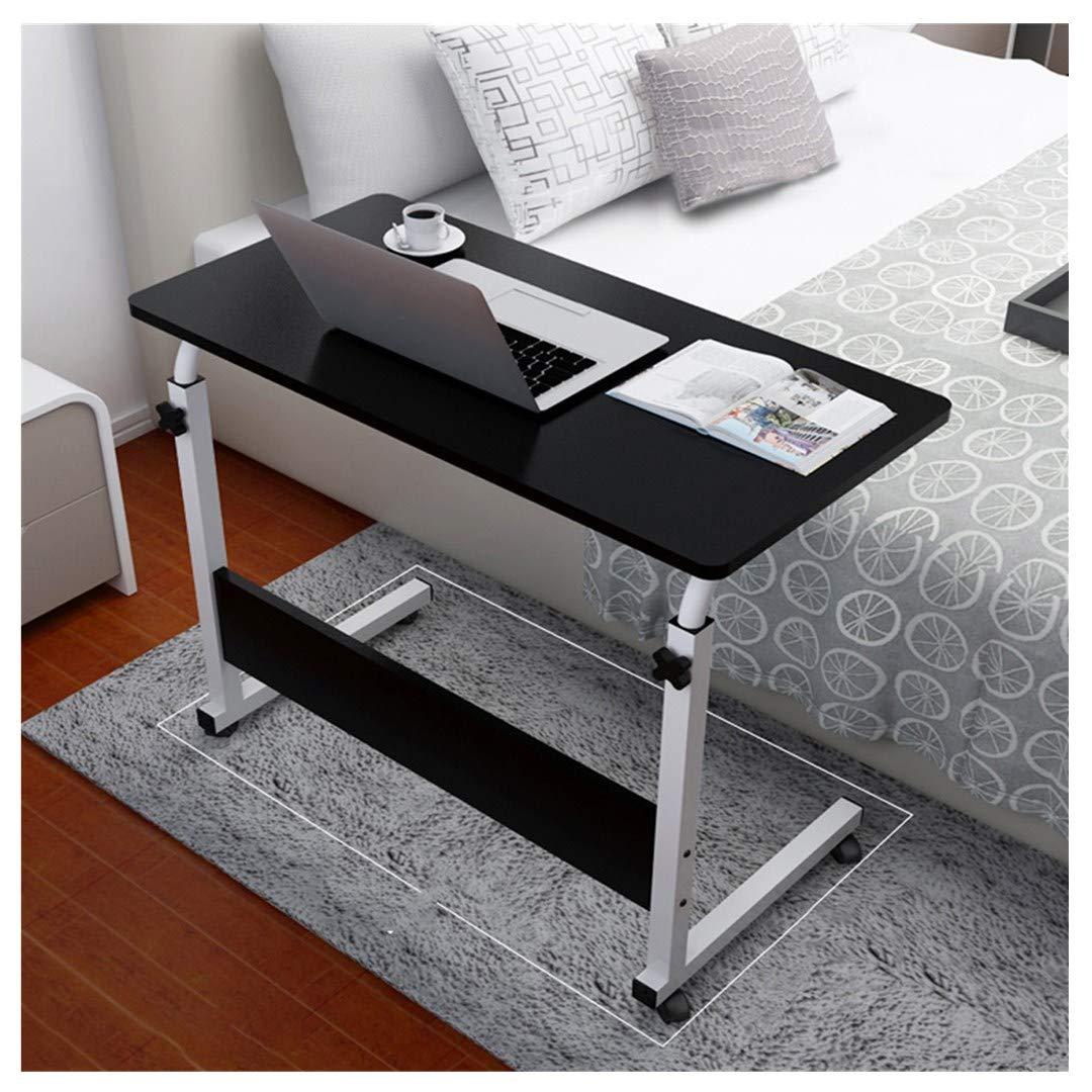 Pollyhb Folding Adjustable Mobile Laptop Desk,Mobile Computer Desk,Laptop Table 80cm x 40cm/34.5'x15.7' (Black)