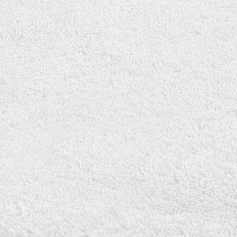 DECOLICIOUS - Juego de 2 Toallas de Baño, 2 Toallas de Ducha y 2 Toallas de Manos para Invitados -100% Algodón Peinado - 550gr/m2 - Blanco: Amazon.es: Hogar