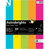 Neenah Paper Astrobrights Premium Color Paper, 8.5 x 11-Inch, 24-lb, 500-Sheet, Bright Assortment (99608)