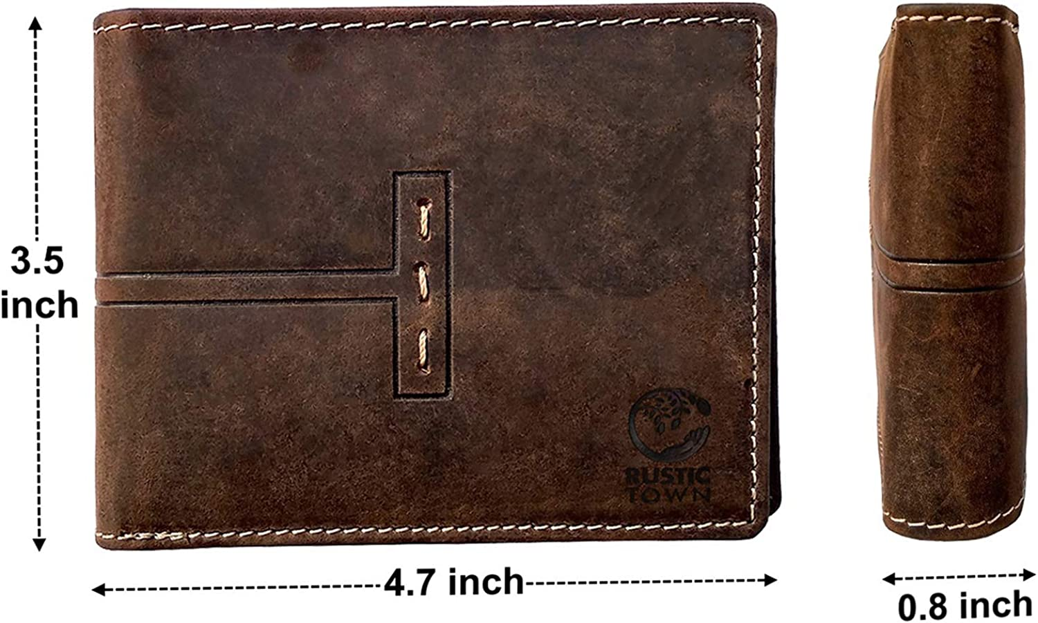 Hand stitched Leather Wallet \u2022 Leather Bifold Wallet in Rustic Soft Brown leather \u2022 Men/'s Leather Wallet \u2022 folding wallet