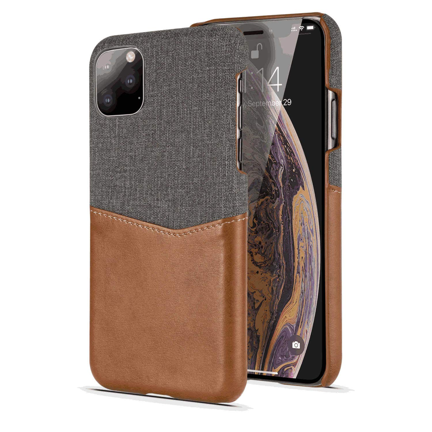Leather Flip Case Fit for Samsung Galaxy S10 Plus Brown Wallet Cover for Samsung Galaxy S10 Plus