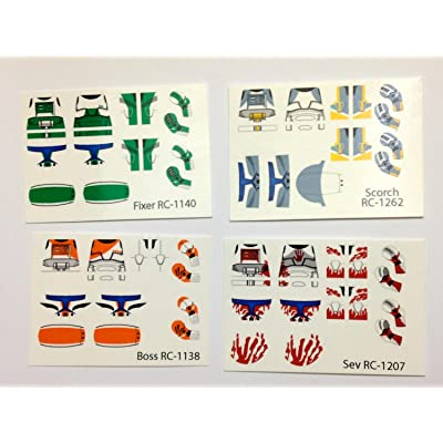 Brick4Brick Delta Squad - Boss, Fixer, Sev, Scorch Waterslide Decals: Toys & Games
