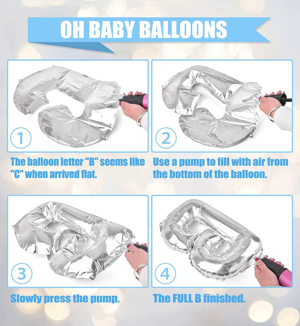 Baby Shower Decoraciones para el ni/ñoEs un ni/ño Baby Shower conOH BEB/É Papel de carta Globo Beb/é Azul Bunting y papel de seda