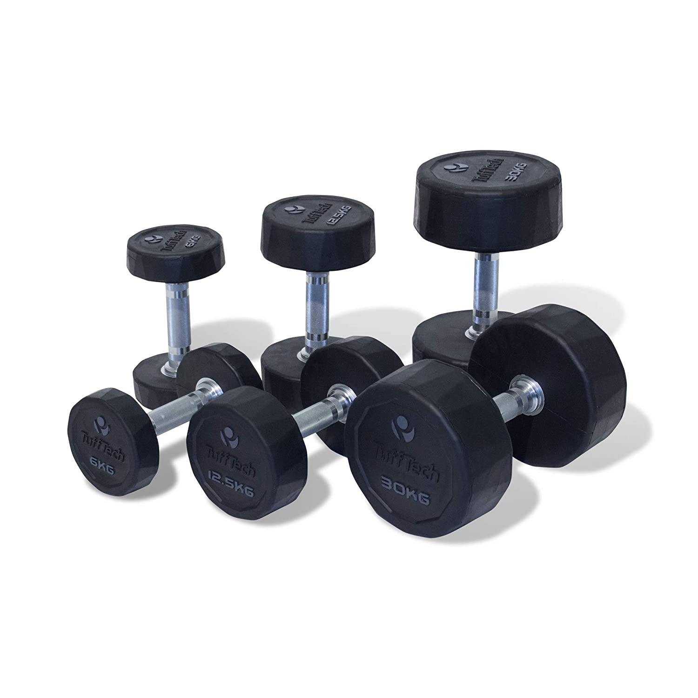 Physical Company TuffTech de goma mancuernas (1KG a 50 kg): Amazon ...