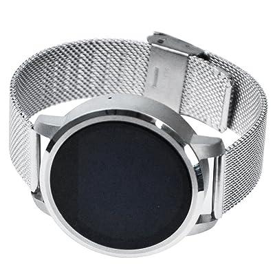 Argent Blanc smart, montres pour homme Sédentaires rappel étanche Smart montres, liste d'appels/Bluetooth Digital Smart montres