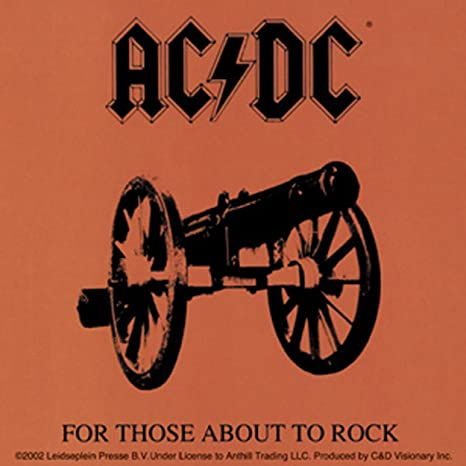 Ac Dc About Rock Sticker Officially Licensed Products Classic Rock Artwork Long Lasting Sticker Aufkleberdecal Auto
