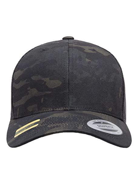 1350552d9 Yupoong - Retro Trucker Cap - 6606 - Adjustable - Multicam Black/Black