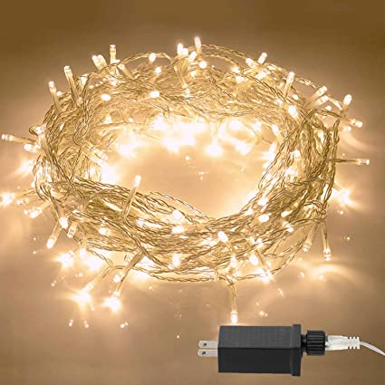Perfect Aluan Christmas Lights String Lights 100 LED 33ft+10ft 8 Modes Plug In Indoor  String