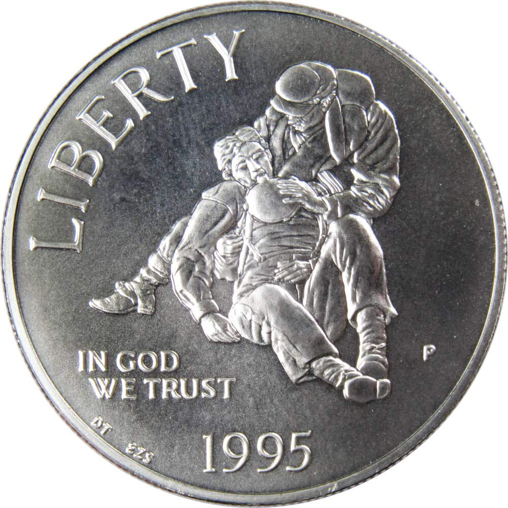 1995-P $1 Civil War Battlefield Preservation Commemorative Silver Dollar BU