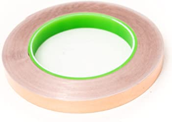 "Bertech Copper Conductive Tape, 1/4"" Wide x 36 Yards Long, 2.75 mil Thick on a 3"" Core - For Slug Repellent, EMI Shielding, Electrical Repairs"