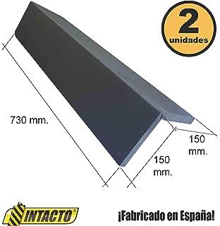 INTACTO PIEZA DE PROTECCI/ÓN COCHE ESPUMA DE POLIETILENO ANTRACITA 2 unidades ADHESIVO EXTRA FUERTE 730X300X20MM