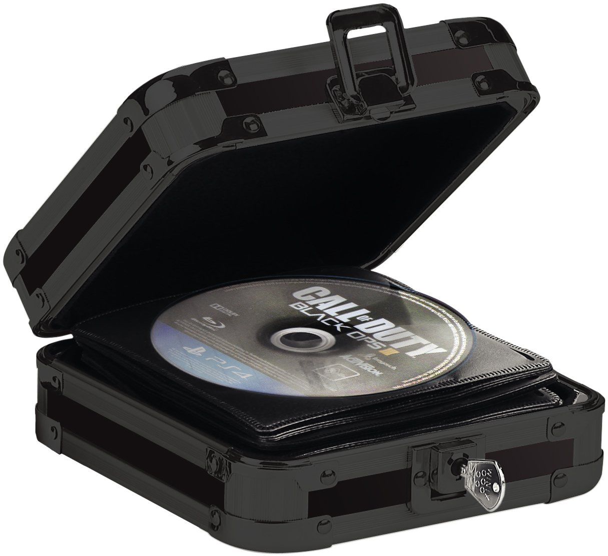 Vaultz Locking CD Wallet, 64 CD Capacity, 3.5 x 13.25 x 7.25 Inches, Black (VZ01149)