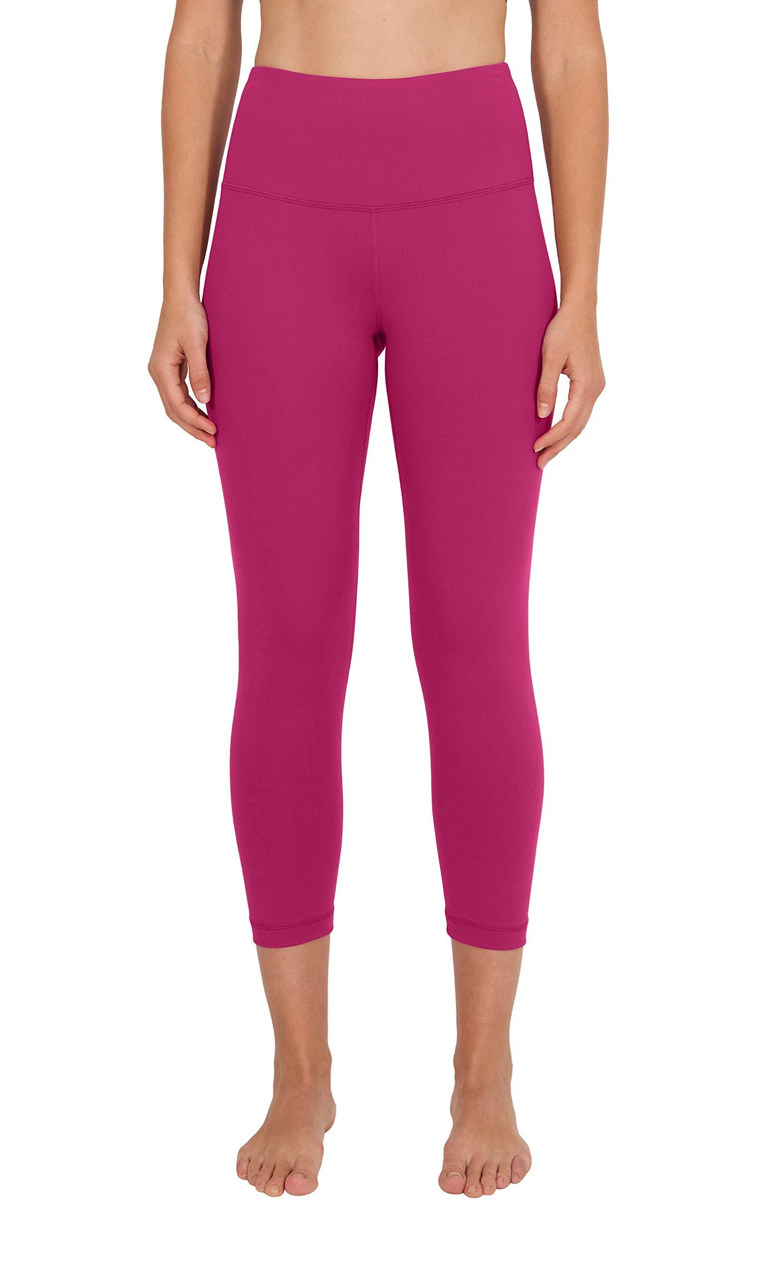 90 Degree By Reflex – High Waist Tummy Control Shapewear – Power Flex Capri -Black Raspberry - Small