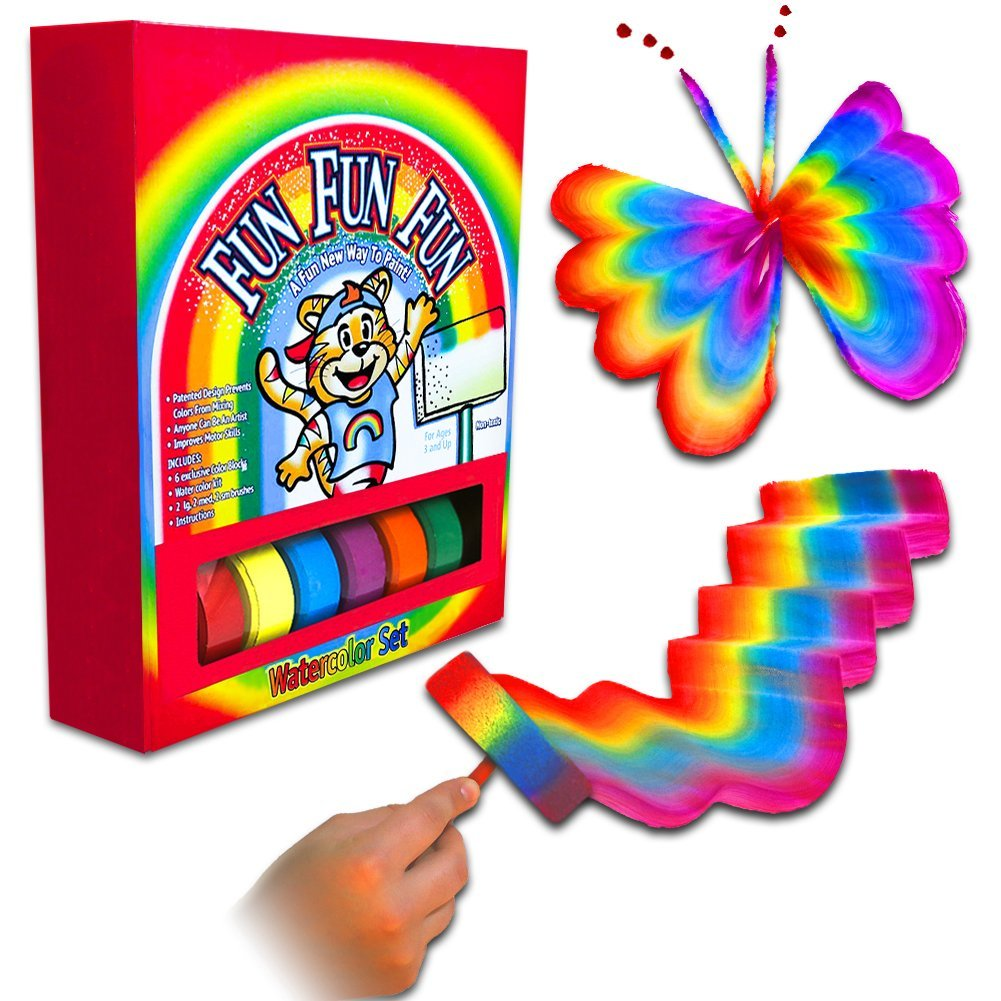 SHEFIZ Magic Art Set Rainbow Paint Set For Kids Including Paint Brushes Set For Arts And Crafts For Girls And Boys   Unique Art Supplies For Kids