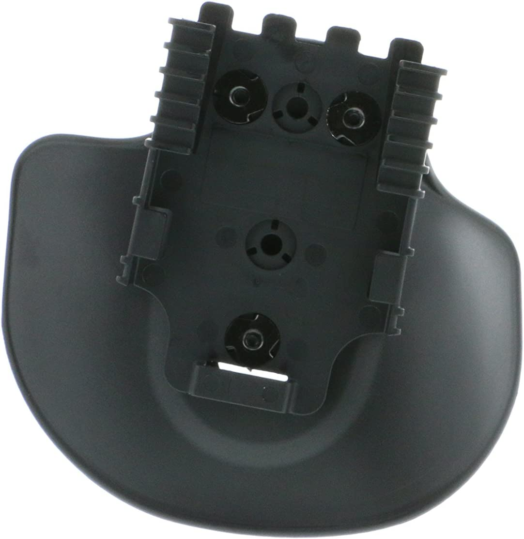 Safariland 568BL Injection Molded Flexible Paddle W/Qls 22 Receiver, Plain Black, Right Hand Plain Black Finish