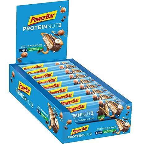 Powerbar Barritas Proteinas con Bajo Nivel de Azucar Sabor Chocolate Con Leche Avellana - 18 Barras