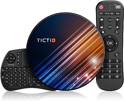 Android 9.0 TV Box 【4G+128G】con Mini Teclado inalámbirco RK3318 Quad-Core 64bit Android TV Box, Wi-Fi-Dual 5G/2.4G, BT 4.0, 4K*2K UHD H.265, USB 3.0 Smart TV Box: Amazon.es: Electrónica