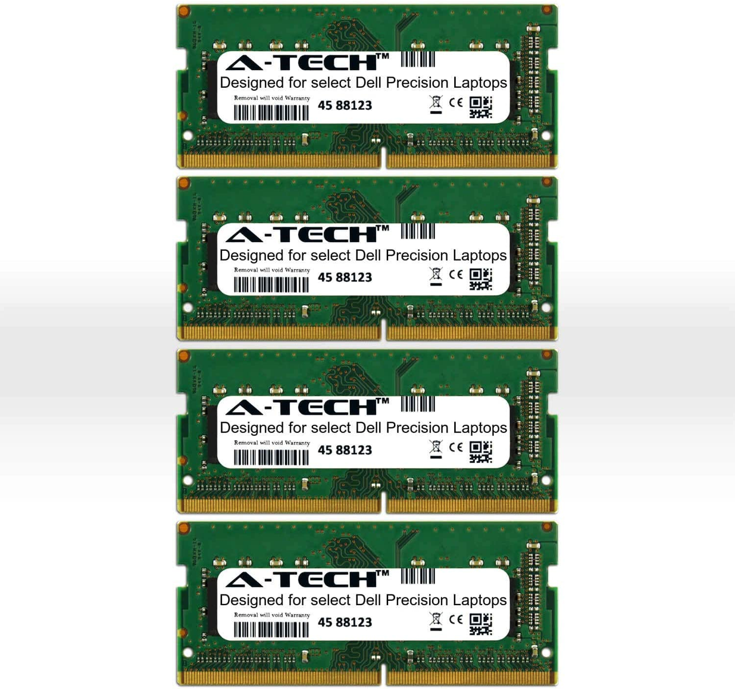 A-Tech 64GB Kit (4 x 16GB) for Dell Precision 7000 Series 7510 7520 7710 7720 7530 7730 M7510 M7520 M7710 M7720 M7530 M7730 2666Mhz DDR4 Mobile Workstation Laptop & Notebook Memory Ram Modules