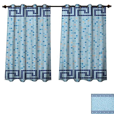 Amazon Com Aqua Blackout Curtains Panels For Bedroom