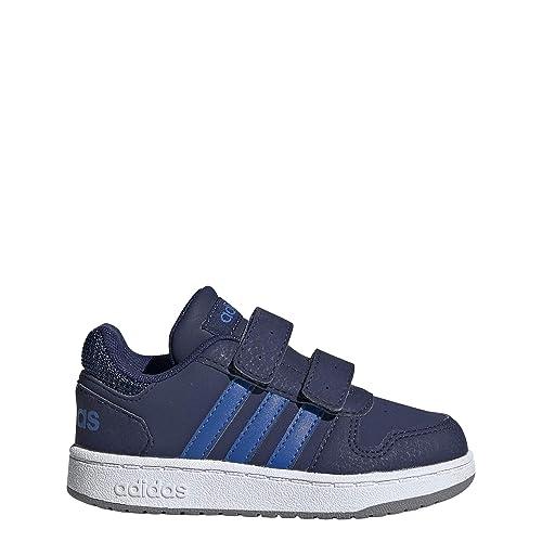 ADIDAS HOOPS 2.0 CMF Kinderschuhe Jungen Sneaker Turnschuhe Top NEU EE9001