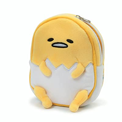 "GUND Sanrio Gudetama The Lazy Egg Stuffed Animal Plush Zipper Pouch, 6.5"": Toys & Games"