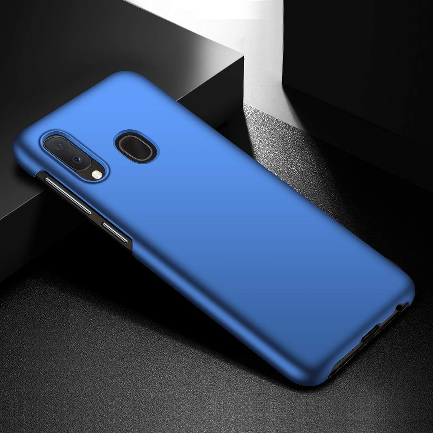 360 Degree Ultra Thin Shockproof Hard PC Back Bumper Cover Flexible Slim Fit Anti-Scratch and Anti-Slip Protective Case,Blue JAWSEU Compatible with Galaxy A20e Case