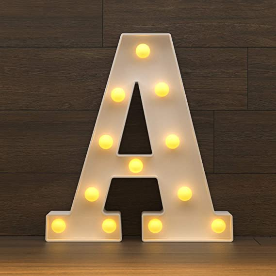 Amazon.com: Marquee Letter Lights Sign, Light Up Alphabet Letters for Wedding Birthday Party Battery Powered Christmas Lamp Night Light Home Bar Decoration