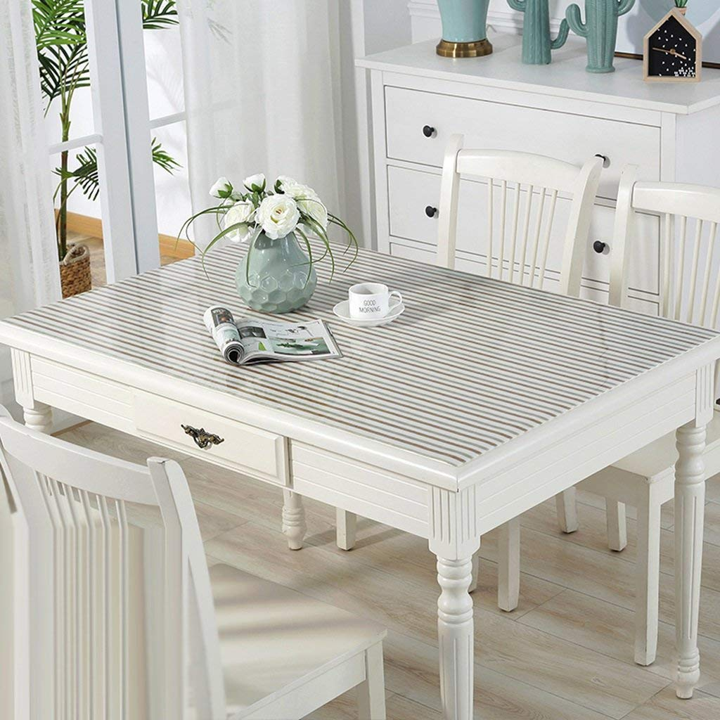 QYM 柔らかいガラスポリ塩化ビニールのテーブルクロス防水反熱く透明なテーブルパッドのテーブルクロスコーヒーテーブルパッドプラスチックテーブルクロスクリスタルプレート (Color : C, サイズ : 80*150cm) 80*150cm C B07RTBTRJZ
